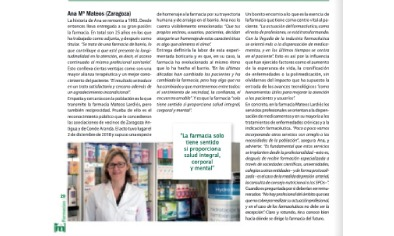 IM Farmacias: A pie de calle, Ana Mª Mateos Lardiés