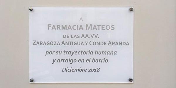 Homenaje Asociaciones de Vecinos de Conde Aranda y Zaragoza Antigua